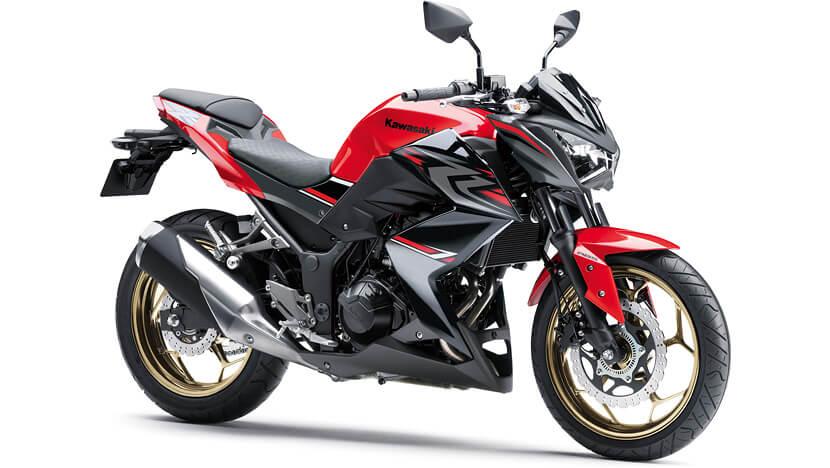 Kawasaki Z300 สีแดง